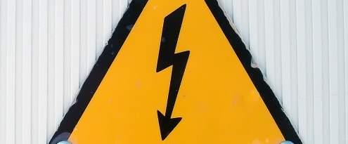 Waarschuwing voor gevaarlijke elektra
